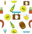 Beer pattern cartoon style vector image vector image