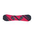 black and red snowboarding board extreme winter vector image