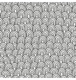 black and white hand drawn pattern for coloring vector image vector image
