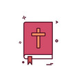 book holy bible icon design vector image