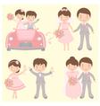 brides grooms set vector image vector image