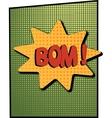 cartoon green bom vector image vector image