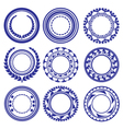 Circle Elements Pattern vector image vector image