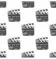 clapperboard seamless pattern vintage handdrawn vector image