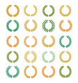 collection different colorful circular wreaths vector image vector image