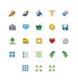 Colorful web app graphic editor tools icons on vector image