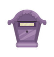 cute purple mailbox for letters and newspapers vector image vector image