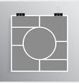 empty collage board seven frames photo vector image