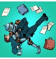 Fighting robot and human artificial intelligence vector image vector image