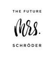 future mrs paint brush lettering bridal design vector image