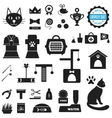 Great set of icons about Lovely Cat vector image vector image