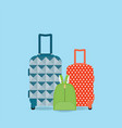 group of baggage vector image vector image
