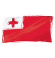 grunge tonga flag vector image vector image