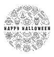 halloween icon happy halloween card circle vector image