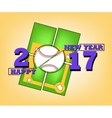 Happy new year 2017 and baseball vector image