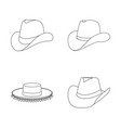 isolated object of hat and cap symbol set of hat vector image
