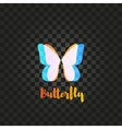 Isolated pink and blue butterfly logo vector image vector image