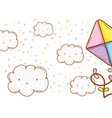 kite on clouds vector image