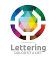 lettering u rainbow alphabet design vector image
