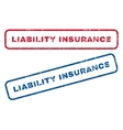 Liability Insurance Rubber Stamps vector image vector image