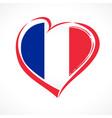 love france flag emblem vector image