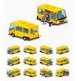 Low poly passenger minivan vector image vector image