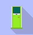 modern info kiosk icon flat style vector image vector image