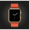 Modern shiny 18-karat yellow gold smart watches vector image vector image