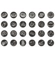 money buttons vector image vector image