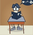 nerd boy learn to get the girl vector image vector image