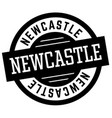 newcastle black and white badge vector image