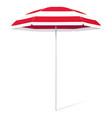 open beach colorful umbrella vector image vector image