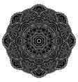 ornamental black mandala vector image vector image