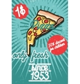 Pizza banner Vintage fast food background vector image vector image