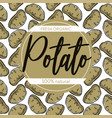 potato seamless pattern root vegetable food and vector image vector image
