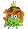 rasta frog cartoon isolate on white vector image vector image