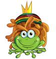 rasta frog cartoon isolate on white vector image