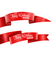 Red Ribbons Banners Set vector image vector image