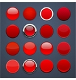 Red round high-detailed modern web buttons vector | Price: 1 Credit (USD $1)
