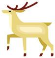 reindeer icon flat isolated vector image