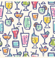 retro pattern for cocktail party vector image