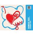 scrawly hearts vector image