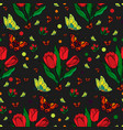 seamless repeating pattern with colorful vector image vector image