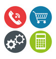 set commercial isolated icons vector image