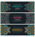 set three horizontal cards or flyers vector image