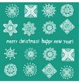 snowflake greeting card vector image vector image