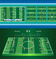 Soccer Game Strategies vector image vector image