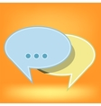 Speech Bubbles Isolated vector image vector image