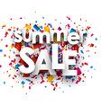 Summer sale paper background vector image vector image