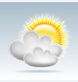 sun and clouds weather web icon vector image vector image